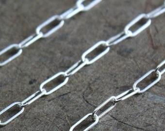 Sterling Silver Chain Bulk - Drawn Rectangle Chain 5mm x 2mm - 3 Feet