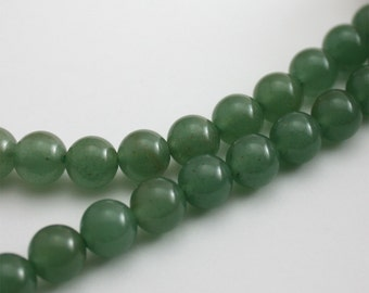Green Aventurine Beads 8mm Round - 20 beads