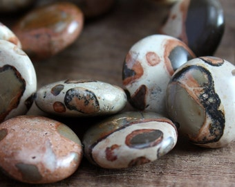 Safari Jasper Beads 14mm Coin - 8 beads