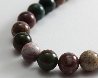 Fancy Jasper Beads 8mm Round  - Full Strand