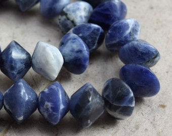 Sodalite Beads 8mm Bicone  - 20 beads