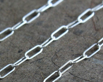 Bulk Sterling Chain - Drawn Rectangle Link Chain 5mm x 2mm - SAVE 5 - 10% on Bulk Lengths