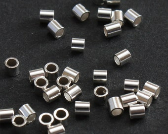 Sterling Silver Crimp Beads 2mm Heavy Duty - Select Pack Size