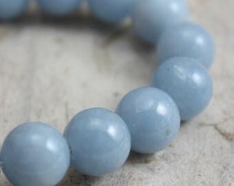 Angelite Beads 8mm round - 20 beads