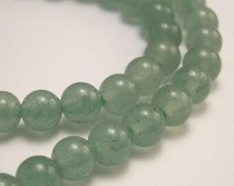 Green Aventurine Beads 6mm Round  - 20 beads