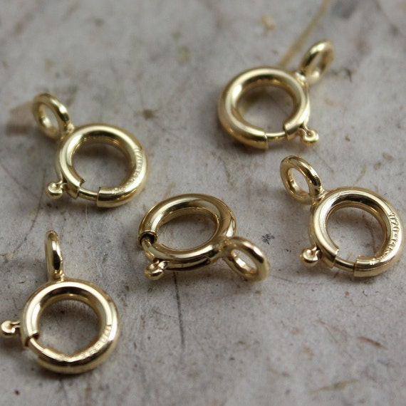 14k Gold Filled Clasps 7mm Spring Ring Clasps  - 20 clasps