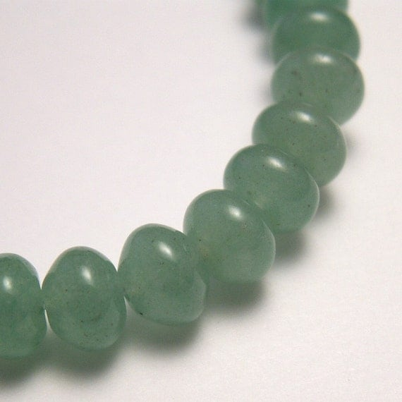 Green Aventurine Beads 6mm Rondelles - 30 beads