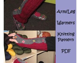 Convertible Arm or Leg Warmers PDF Pattern