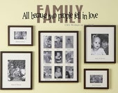 Family All Because Two People Fell In Love  6x24 Quote Vinyl Lettering Wall Saying