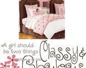 Coco Chanel Quote Girls Women Classy and Fabulous Vinyl Lettering Wall Saying