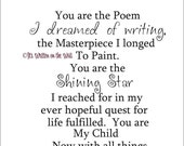 You are the Poem I Dreamed of Writing Vinyl Lettering Wall Saying SHIP IS ONLY 2.99 for Unlimited Purchases