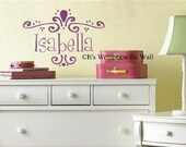 Personalize this Design with Any Name (Girls, Family, Business etc) Size 9x13   Vinyl Lettering Wall Saying Quote