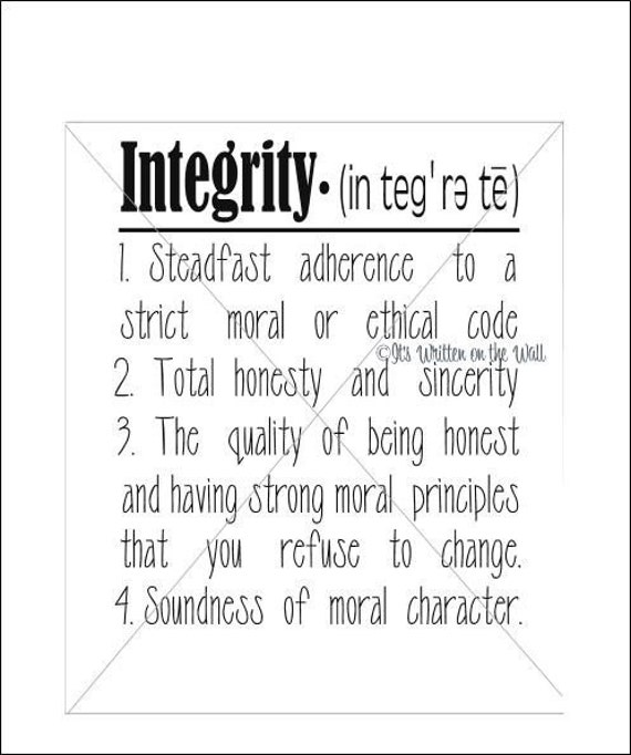 Honesty Quotes Images Download: Integrity Definition Vinyl Lettering Wall By