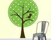 Polka Dot Tree Vinyl Wall Decal Sticker 50x36  DB123