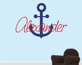 Wall Decal - Anchor Name Decal Boys  DB137