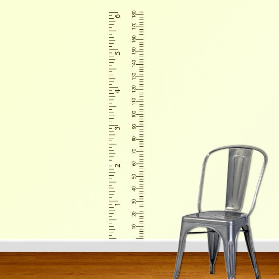 Metric growth chart wall decal, Measurement chart, Child growth chart, Playroom wall decals, Ruler growth chart, Kids heigh chart B258