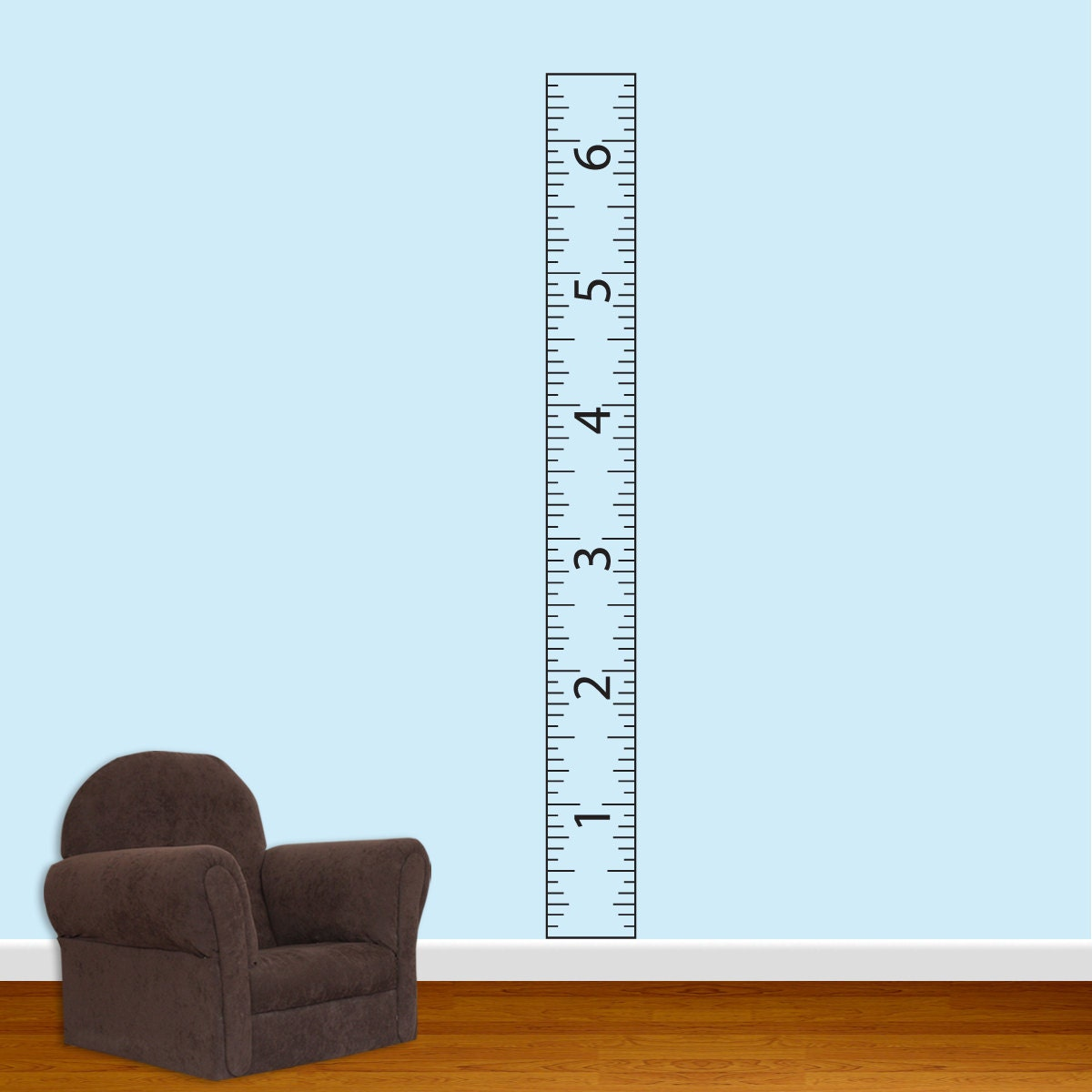 children s ruler growth chart vinyl wall decal with border growth chart wall sticker stickythings co za