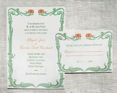 Art Nouveau: Printable Wedding Invitation and Reply Card