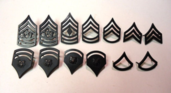 Vintage lot of US Army collar rank pins instant collection