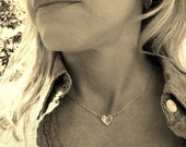 Sterling Silver Monogrammed Heart Necklace, Personalized Necklace, personalized jewelry, Initial necklace