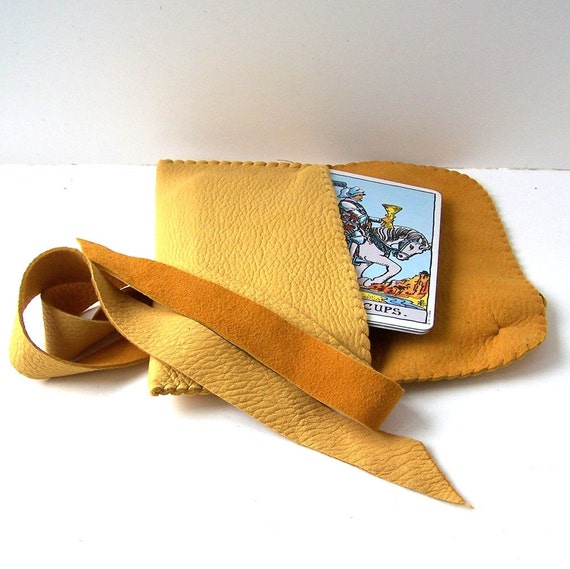 Gold Leather Tarot Bag....Smooth