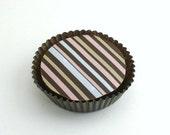 1 Dozen NEOPOLITAN STRIPE Design -Chocolate Covered Oreos
