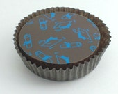 1 Dozen Blue GRADUATION Designer Chocolate Covered Oreos