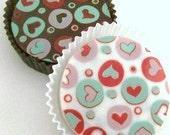 1 Doz VINTAGE HEARTS Designer Chocolate Covered Oreos