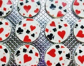 1 Doz VEGAS Designer Chocolate Covered Oreos Black Red Card Suits Casino Heart Diamond Spade Club