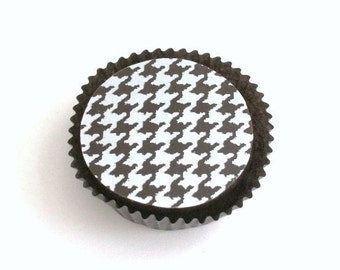 Designer Dark Chocolate Covered Oreos -Houndstooth Wedding Party Favor Alabama