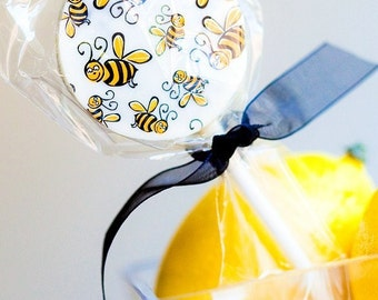 12 Double Stuff Oreo Lollipops -BUSY BEE Cocoa Butter Design Birthday Party Favor