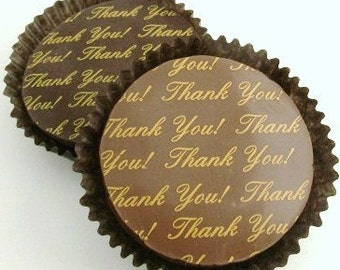1 Dozen Gold THANK YOU Message Design -Chocolate Covered Oreos