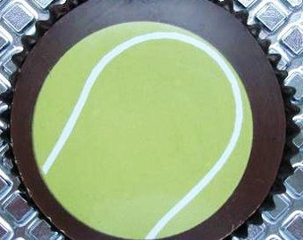 1 Dozen TENNIS ANYONE Chocolate Covered Designer Oreos -Sports Fathers Day Boy Gift Party Favor Spring Bachelor