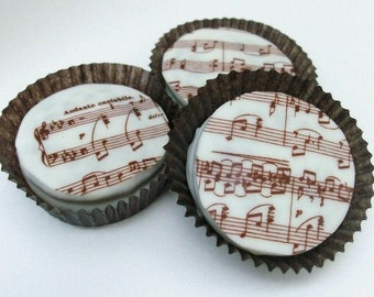 In MARTHA STEWART WEDDINGS Winter 2014 Brown Symphony Designer Chocolate Covered Oreos concert music wedding shower