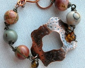 Bracelet CopperJasper Stones Autumn Woodland Forest