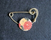 Japanese brooch kimono shawl pin