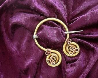 Kilt Pin Great Kilt Shawl Iron Copper Brass Strong Tartan  Rob Roy