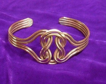 Copper Celtic Knot Bracelet Wellbeing Ancient Magic