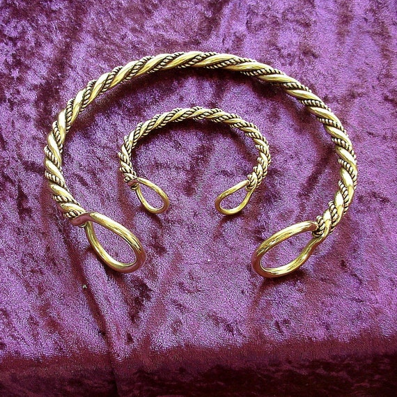 Chieftain Torc and Bracelet set.