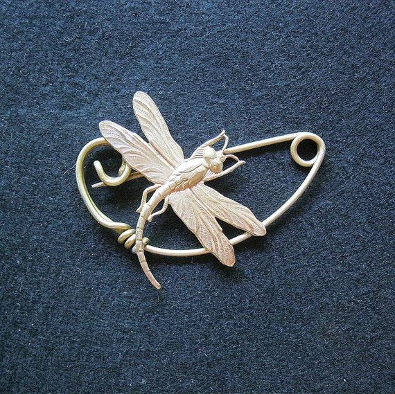 Dragonfly brooch pin Shawlpin Shawl pin