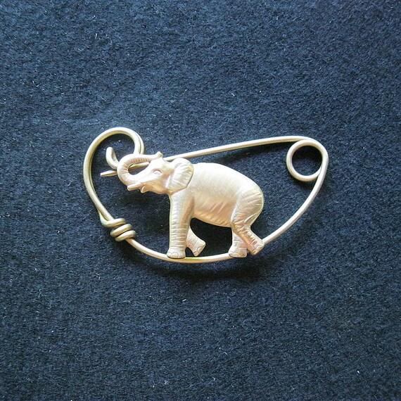 Elephant Brooch Shawl pin
