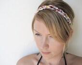 The Double Braid Headband- In yellow print, bohemian style