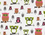 Choose Your Own OWL or GIRAFFE Fabric Custom Floor Cushion Ottoman Pouf (18inch)
