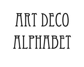 Instant Download - Art Deco Alphabet Filet Crochet Cross Stitch Pattern