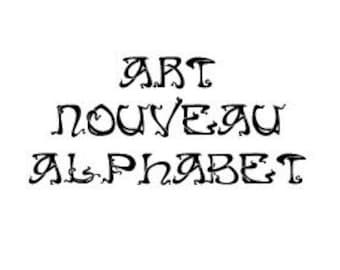 Instant Download - Art Nouveau Alphabet Filet Crochet Cross Stitch Pattern