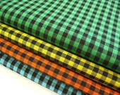 Rock and Roll Gingham - Japanese Cotton Fabric - Fat Quarter Bundle of 4 Colors