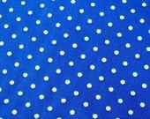 Royal Blue Polka Dots - Japanese Cotton Fabric - Half Yard