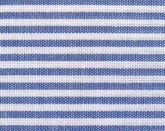 Japanese Cotton Fabric - Pin Stripes in Blue - Half Yard