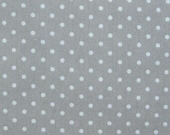 SALE Japanese Polka Dot Fabric - Classic Gray Polka Dots Fabric By The Yard - Half Yard