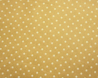 SALE Polka Dot Fabric - Japanese Cotton  - Golden Milk Tea Polka Dots - Fat Quarter